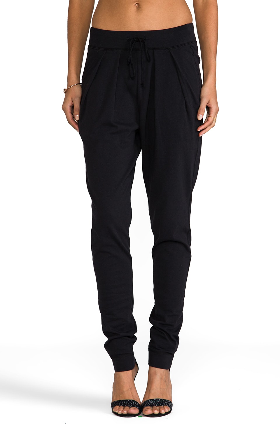 rag & bone/JEAN Terry Pleat Pant in Black
