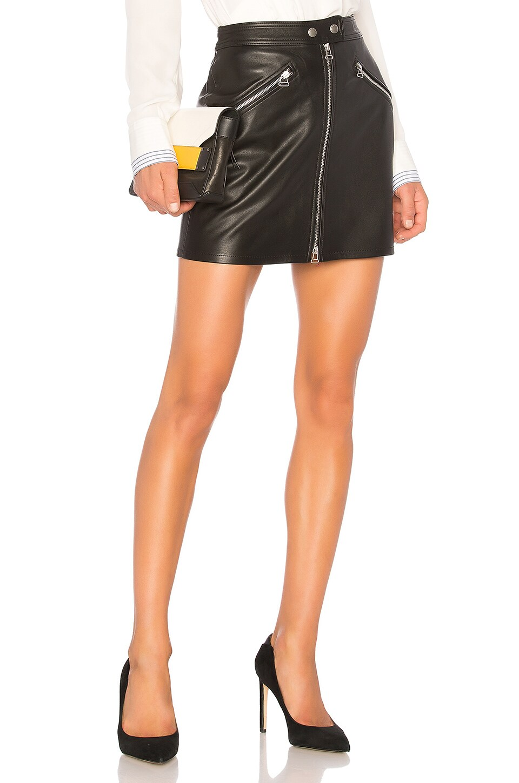 2389f0247 rag & bone/JEAN Racer Skirt in Black Leather | REVOLVE