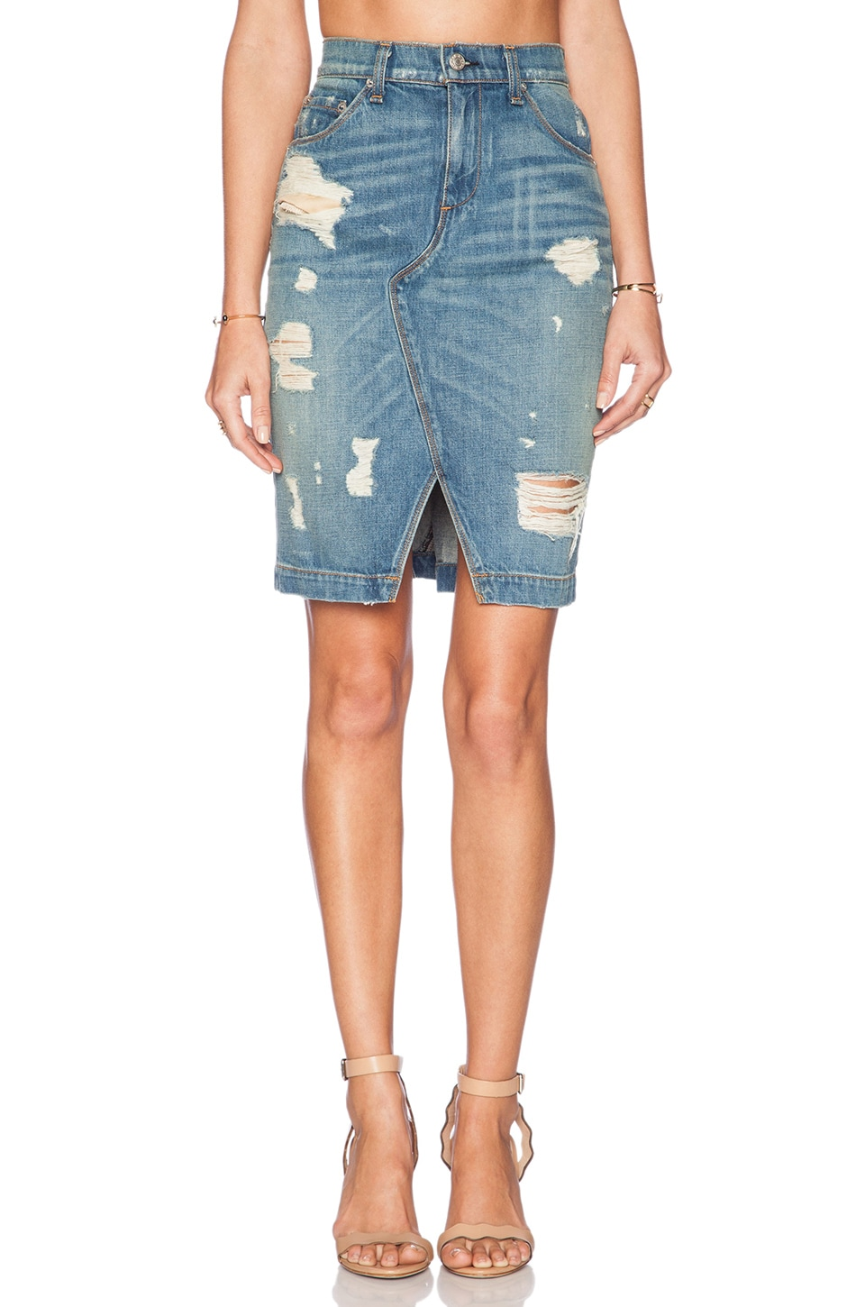 rag bone jean denim skirt in shredded revolve