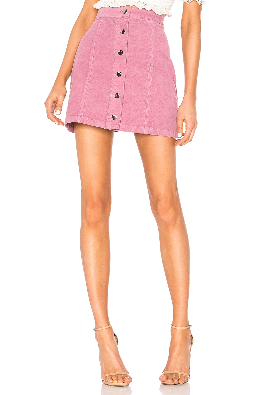 Rag & Bone Rosie Corduroy Skirt in Mauve