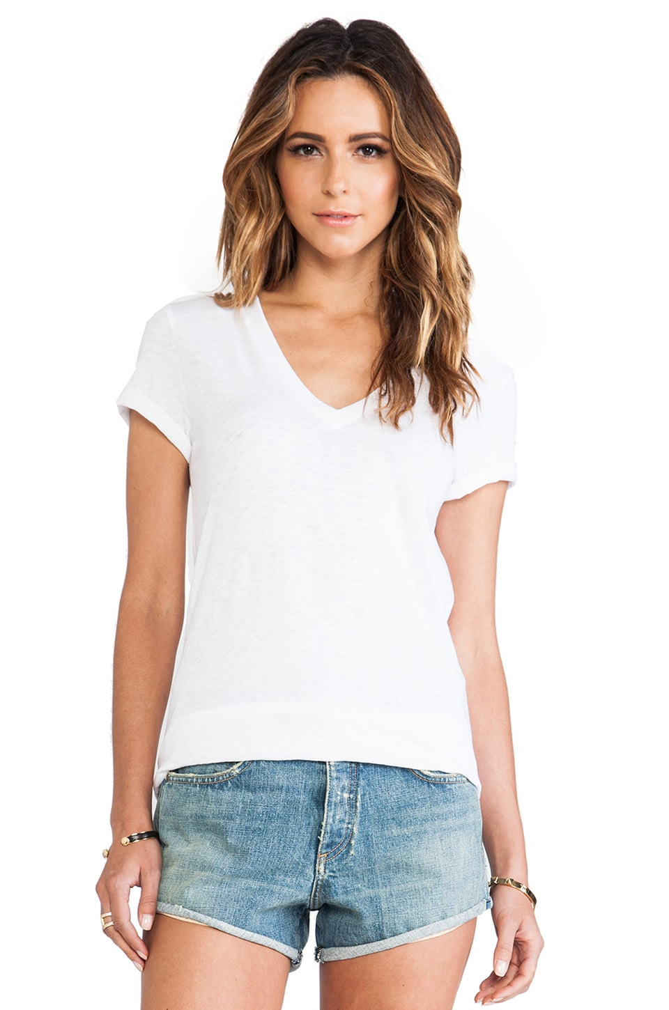 rag & bone/JEAN Jackson V Tee in Bright White