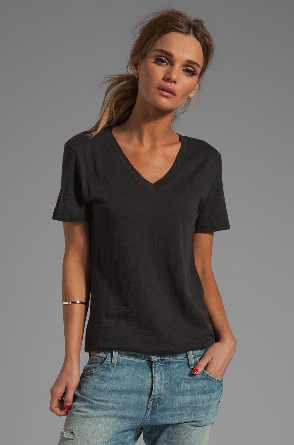 rag & bone/JEAN Jackson V Tee in Black