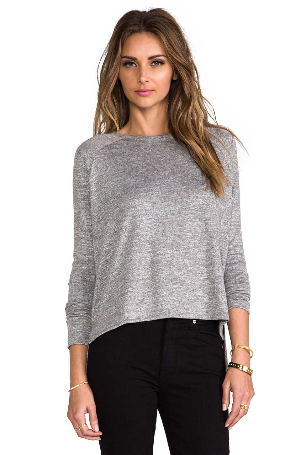rag & bone/JEAN Camden Long Sleeve Tee in Steel Grey