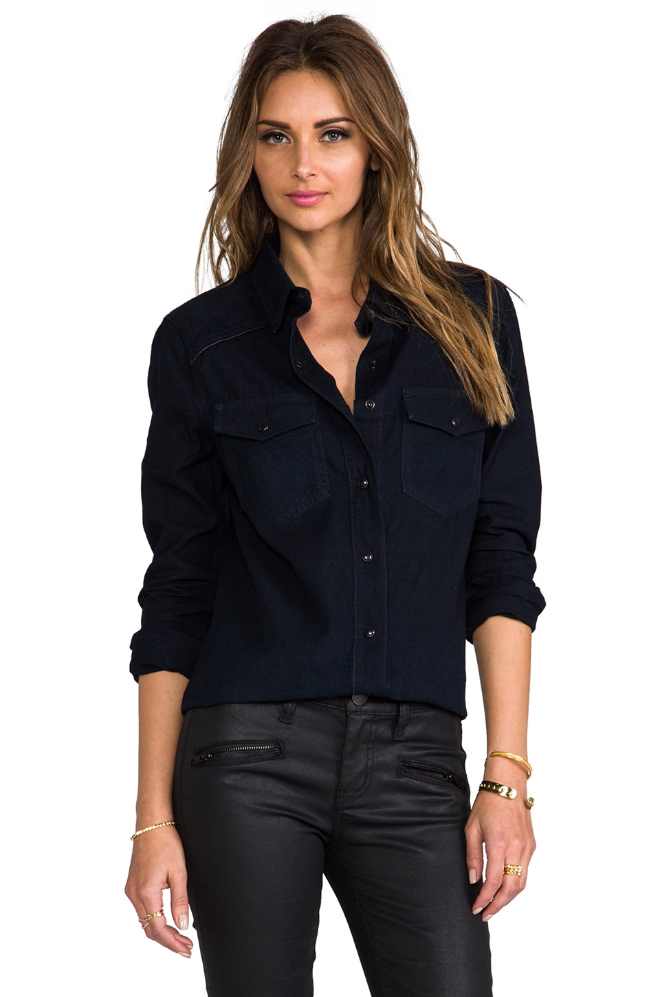 rag & bone/JEAN The Western Shirt in Midnight Pop