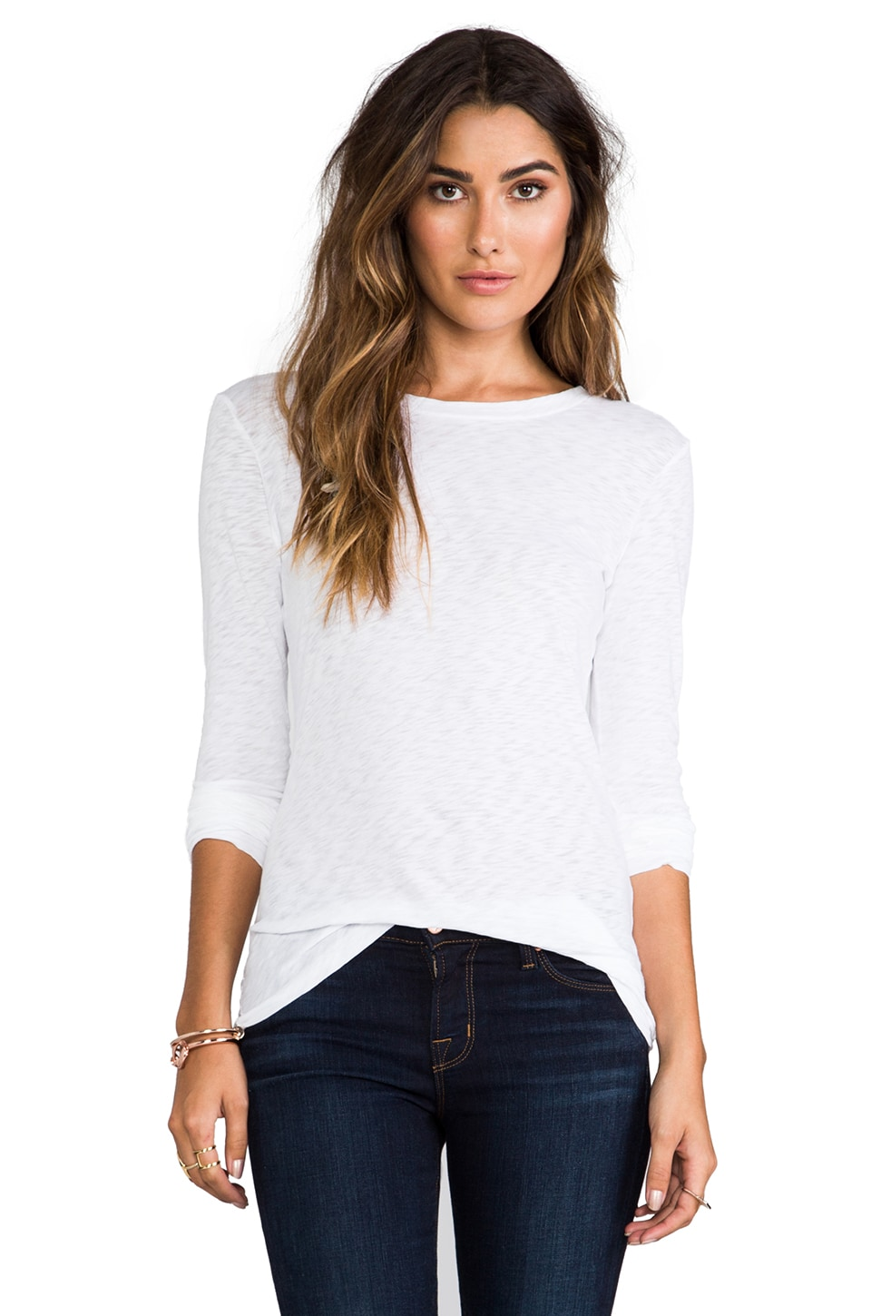 rag & bone/JEAN The Classic Long Sleeve Tee in Bright White
