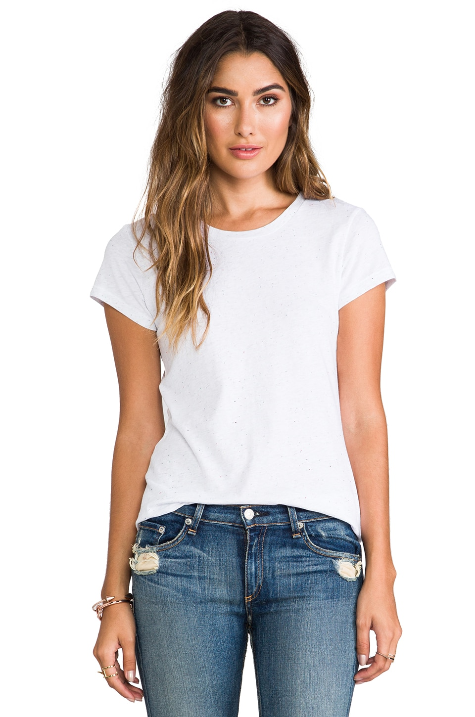 rag & bone/JEAN The Basic Brando Tee in Bright White