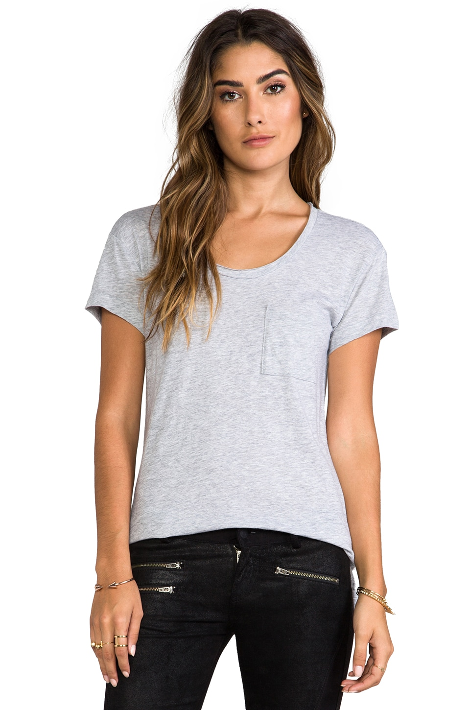 rag & bone/JEAN The Pocket Tee in Light Grey