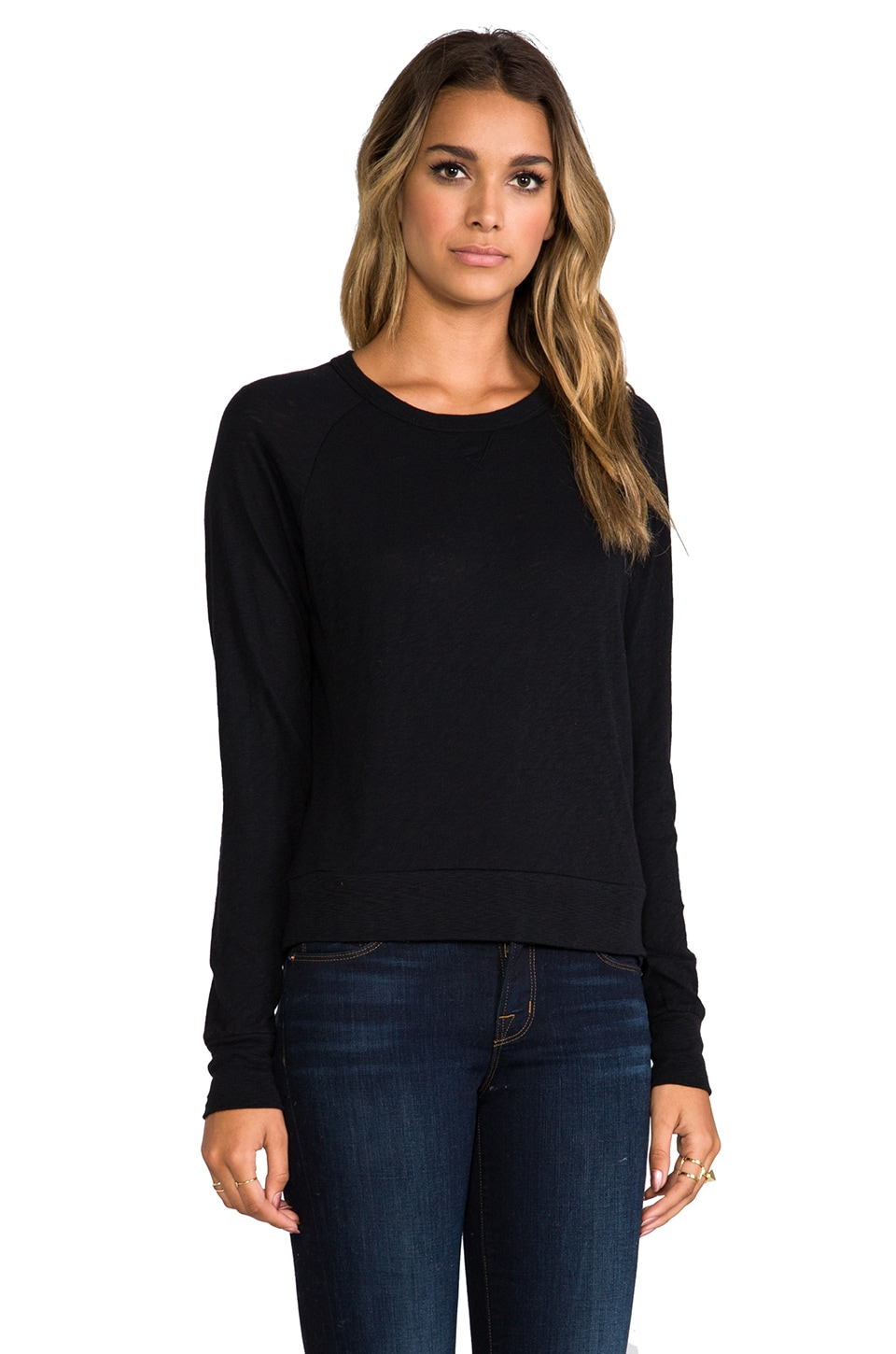 rag & bone/JEAN Classic Raglan in Black