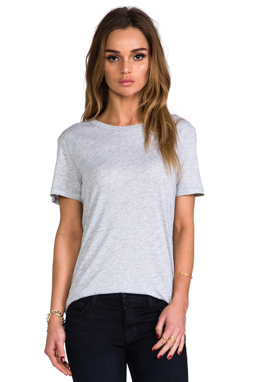 rag & bone/JEAN The Boyfriend Tee in Grey