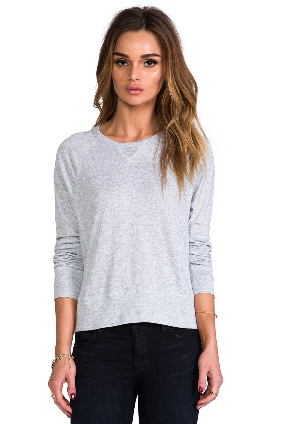 rag & bone/JEAN Classic Raglan in Light Grey