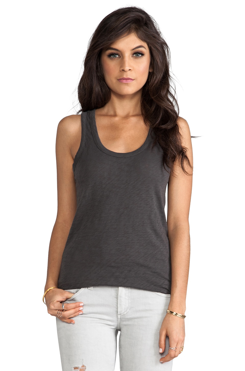 rag & bone/JEAN The Classic Beater Tank in Raven