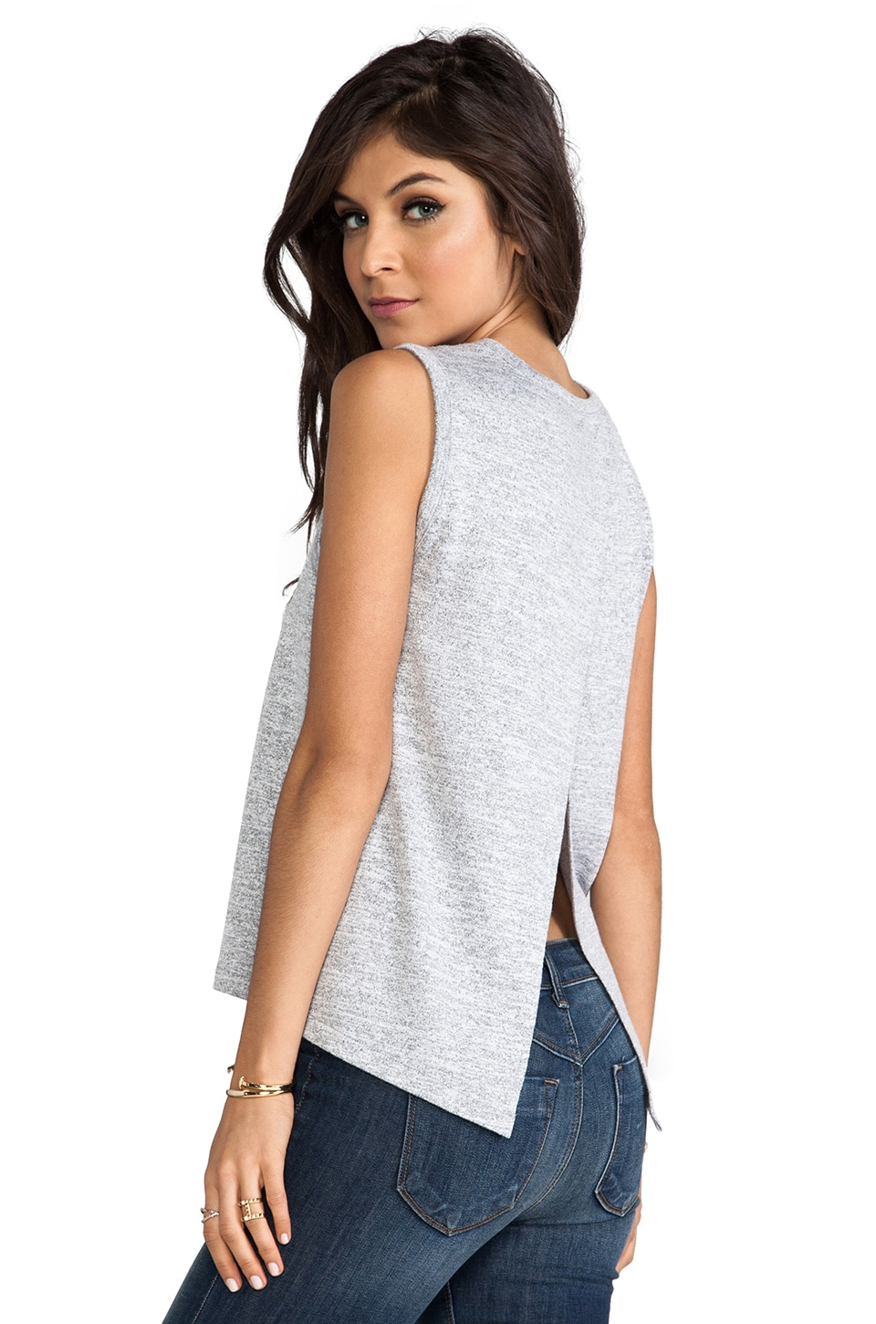rag & bone/JEAN Nicole Tank in Light Grey