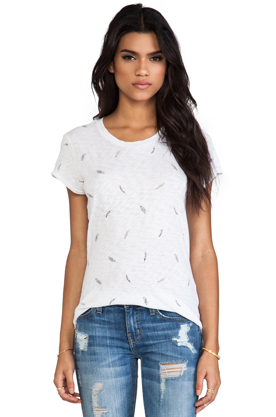 rag & bone/JEAN Printed Brando Tee in Feather