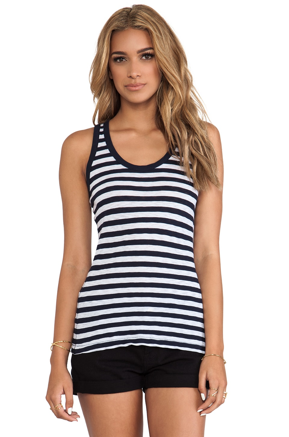 rag & bone/JEAN The Classic Beater Tank in Indigo