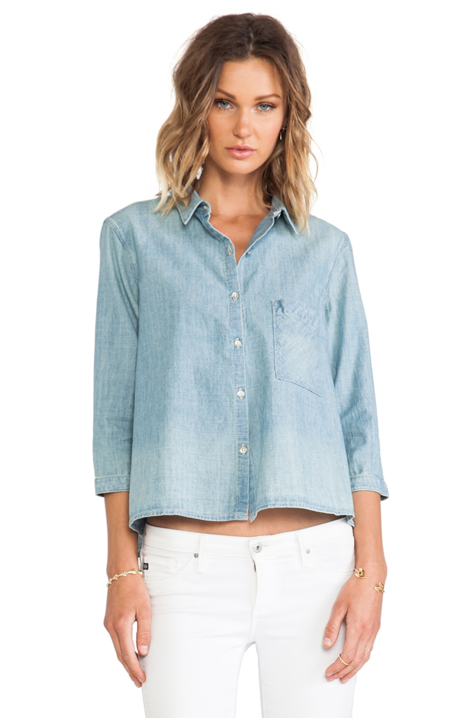 rag & bone/JEAN Tent Shirt in Moonshine