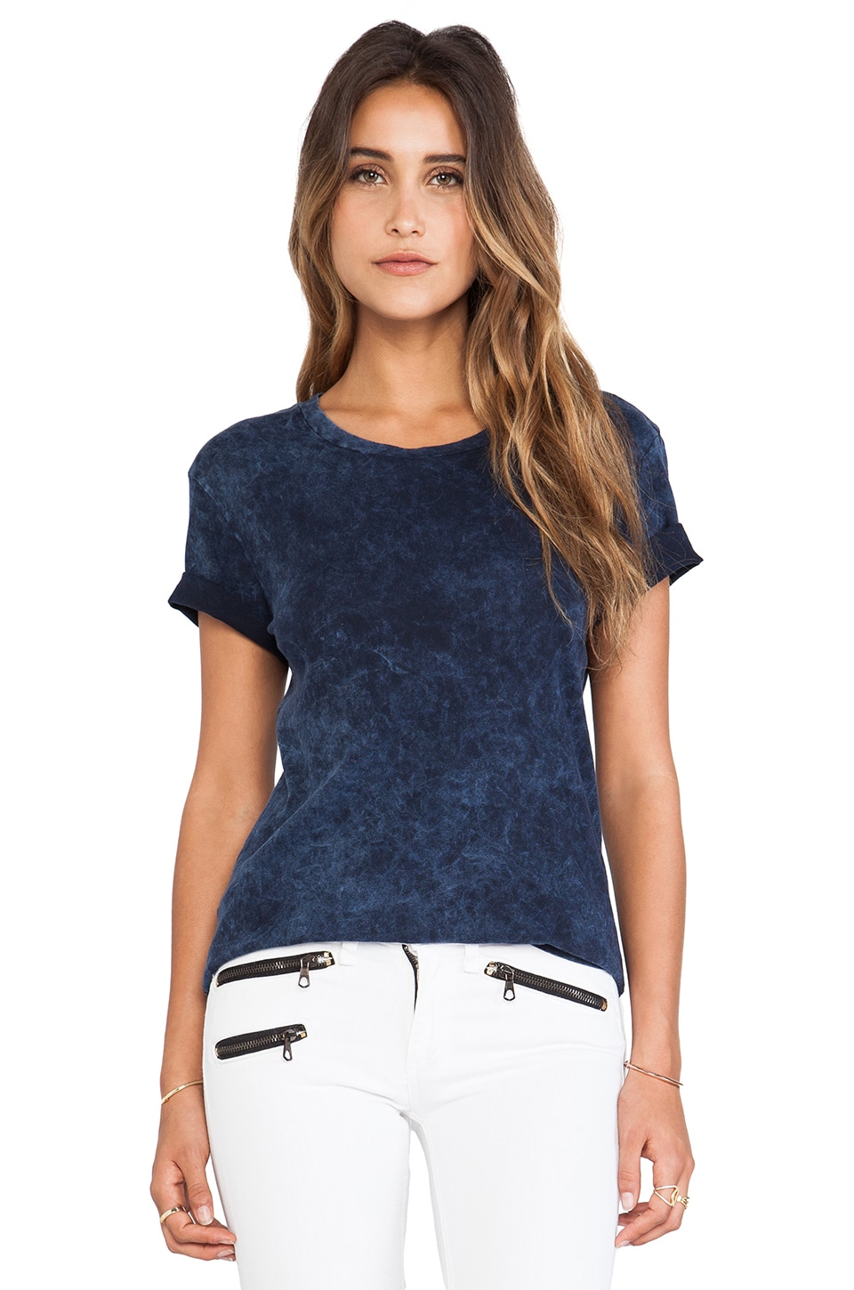 rag & bone/JEAN Boyfriend Tee in Navy