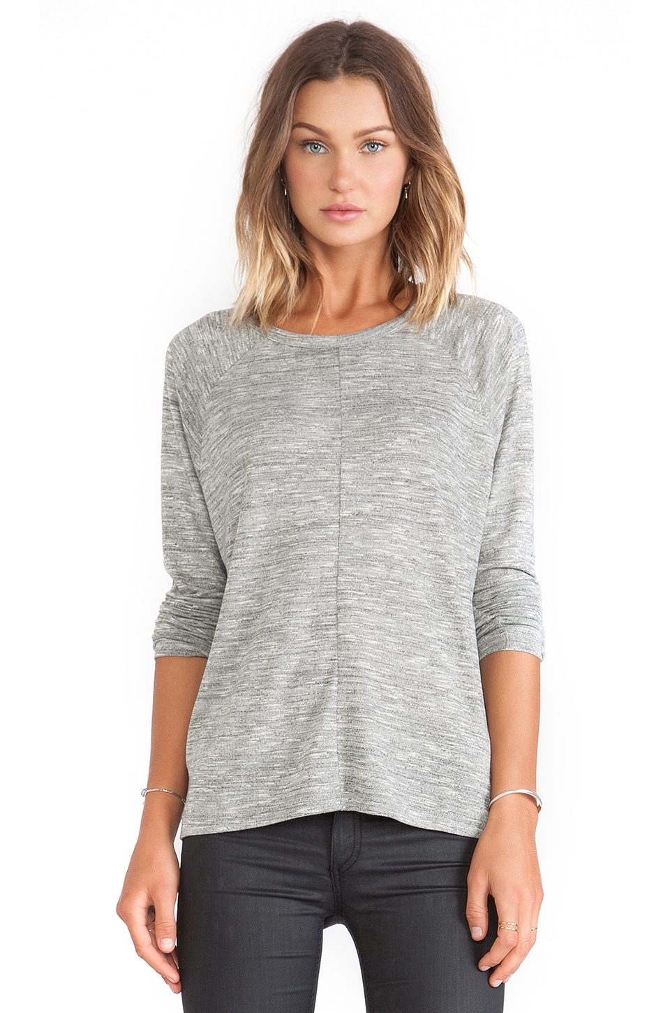 rag & bone/JEAN Nicole Tee in Light Grey