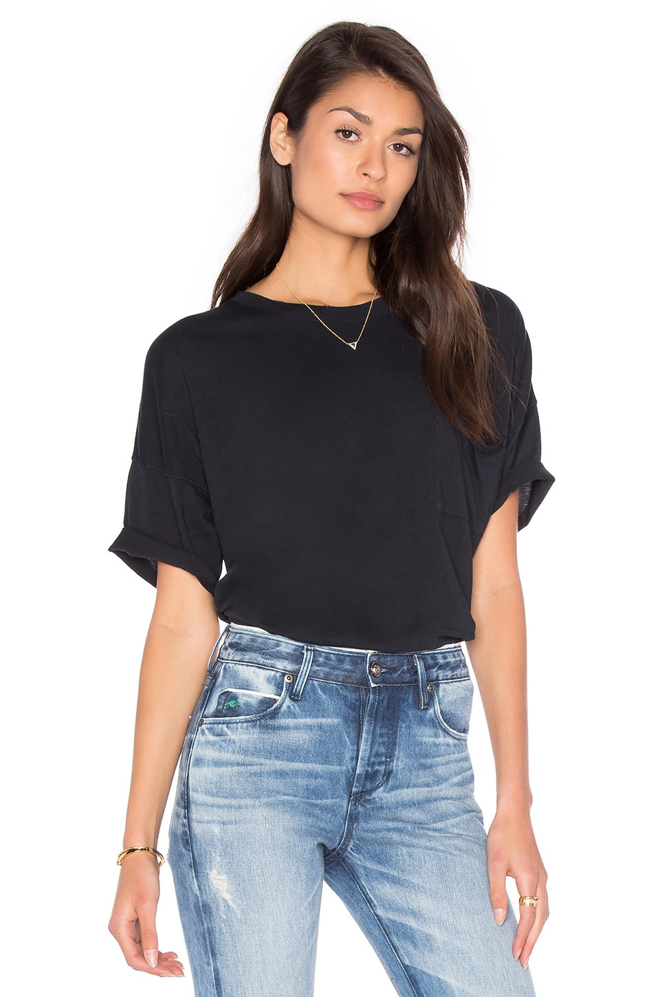 rag & bone/JEAN The Big Tee in Washed Black