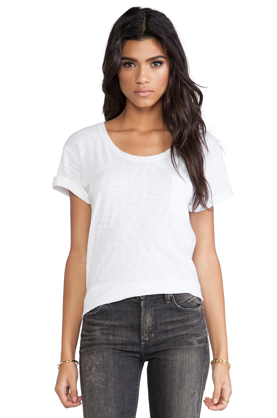 rag & bone/JEAN The Pocket Tee in Bright White