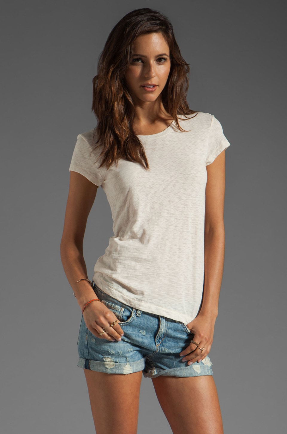 rag & bone/JEAN The Basic Brando Tee in Magnolia