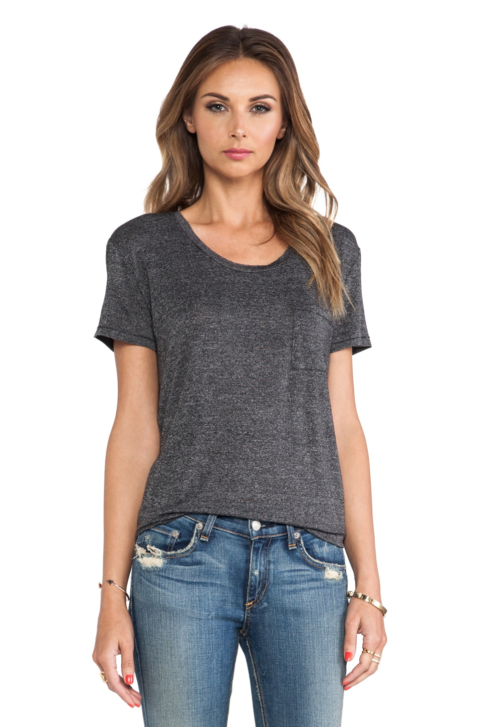 rag & bone/JEAN The Pocket Tee in Charcoal
