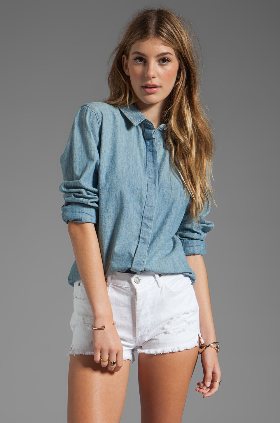 rag & bone/JEAN Classic Shirt in Moonshine