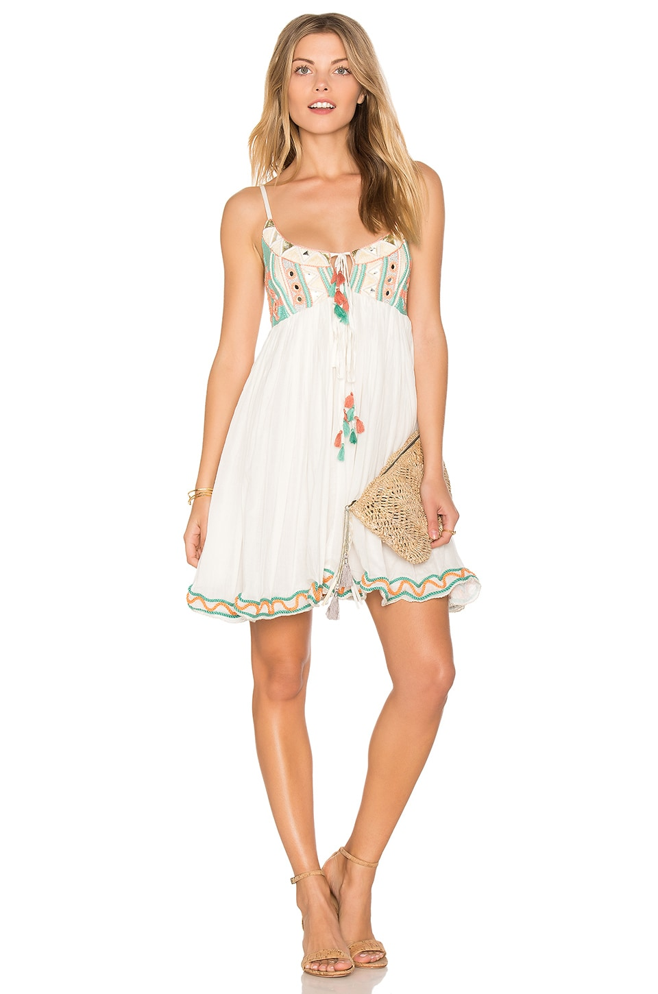 Raga Coastland Babydoll Dress in Aqua