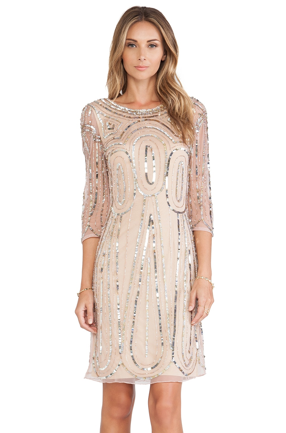 Raga Long Sleeve Sequin Dress in Gold | REVOLVE