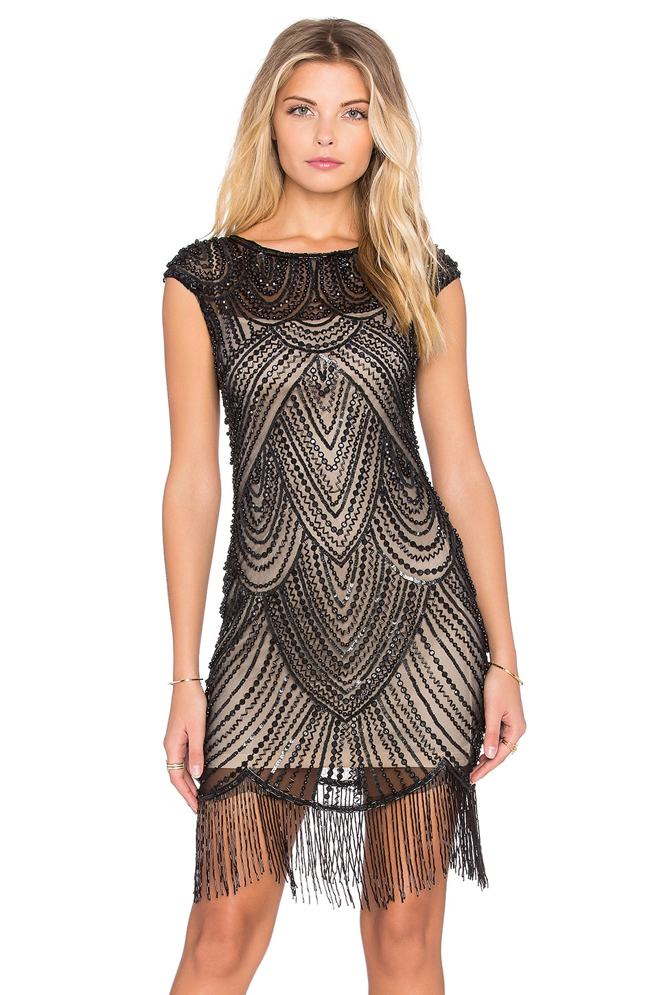 Raga Beaded Dress in Black