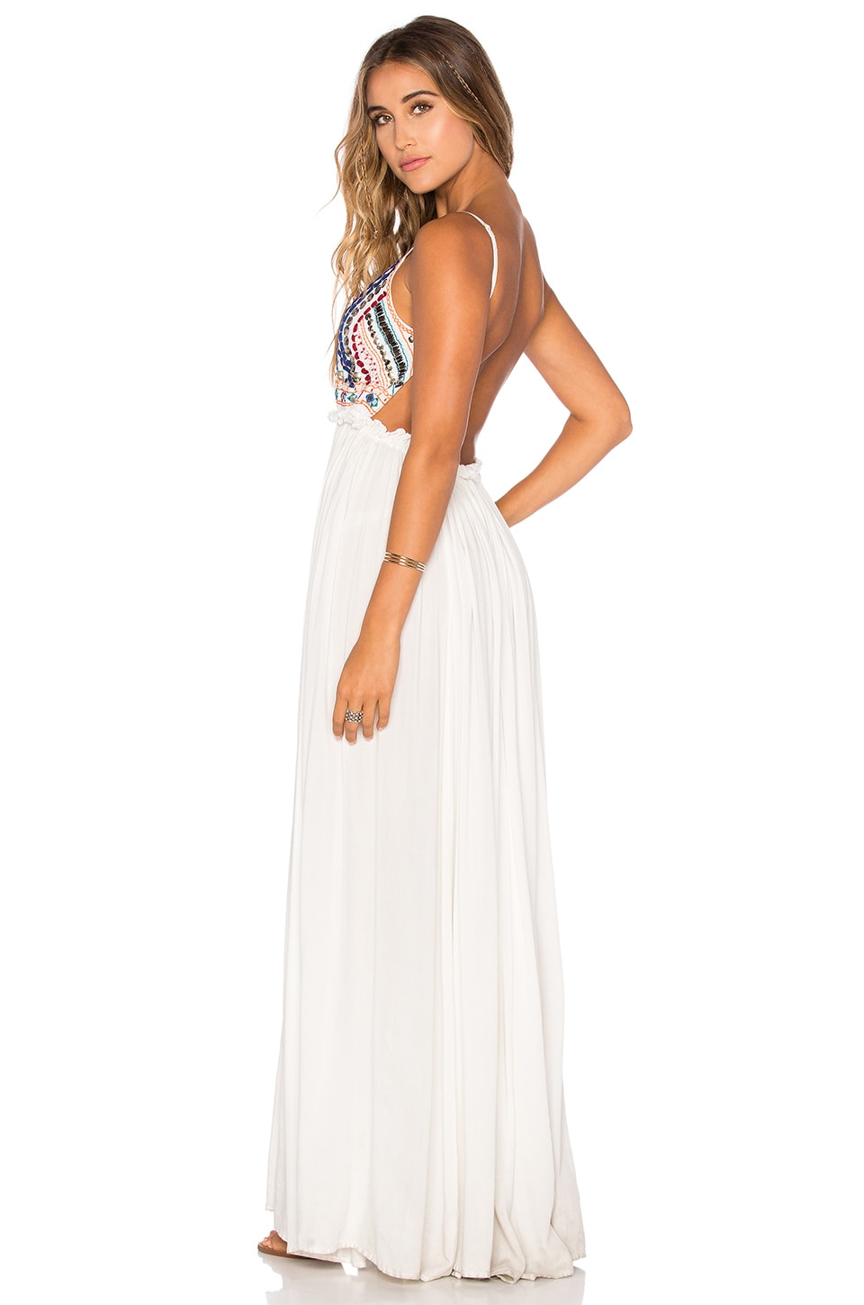 Raga Baja Sunset Backless Dress in Eggshell