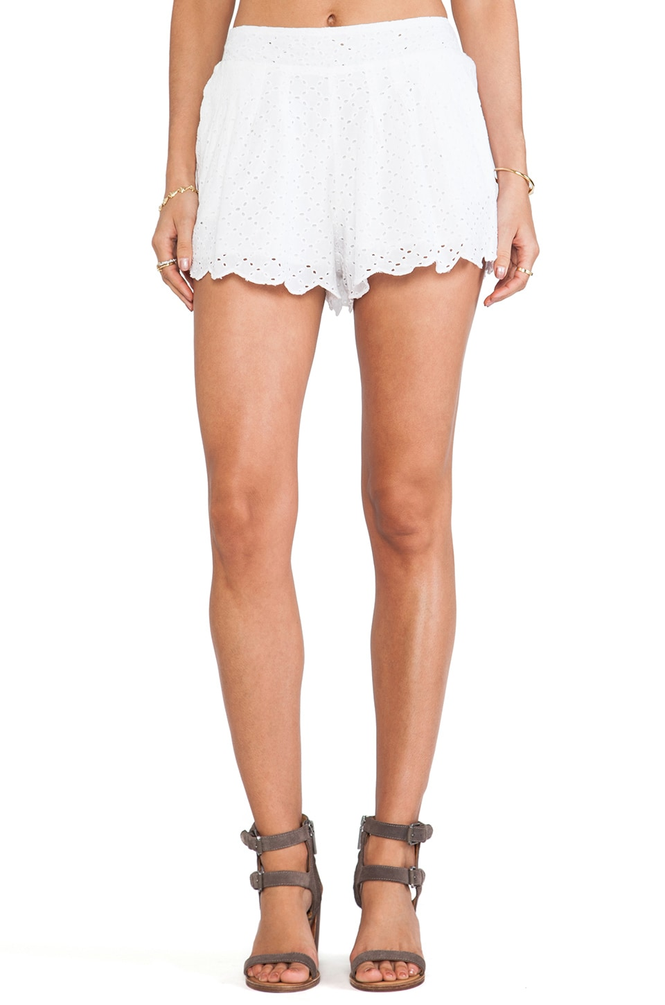 Raga Flutter Shorts in White