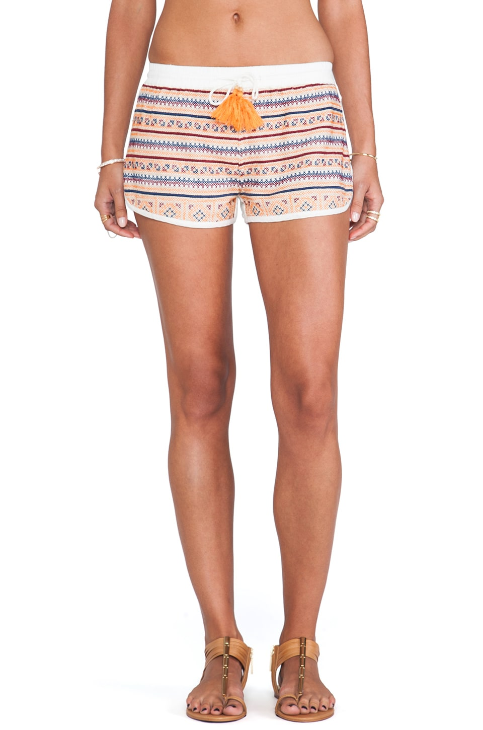 Raga Printed Shorts in Eggshell