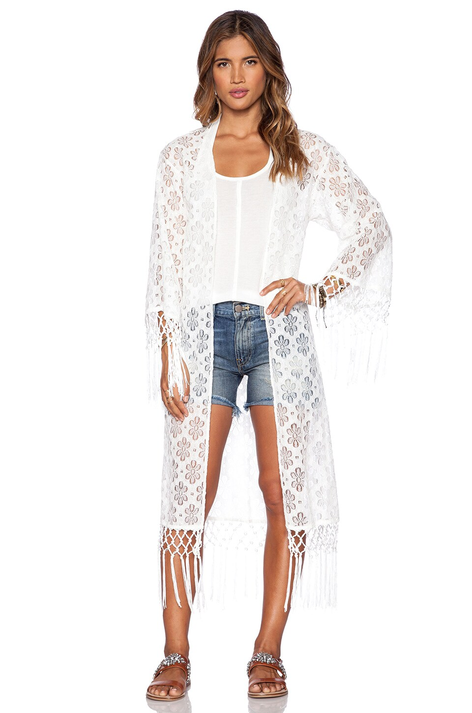 Raga Love Lace Caftan in White
