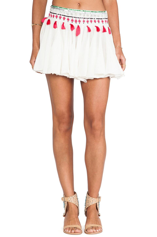 Raga Tasseled Skirt in Eggshell