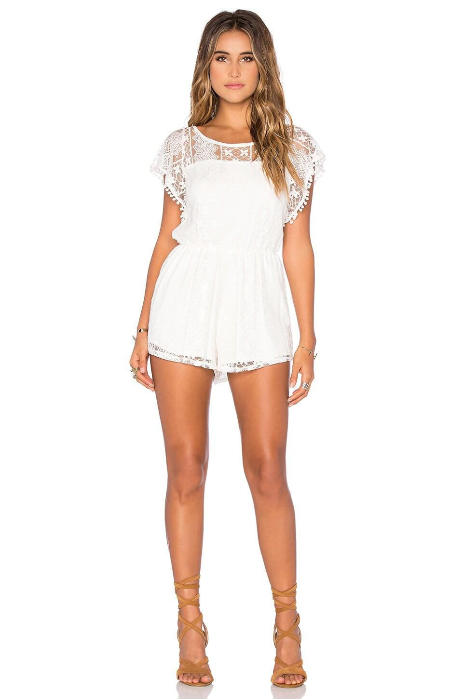 Raga Vanilla Lace Romper in White