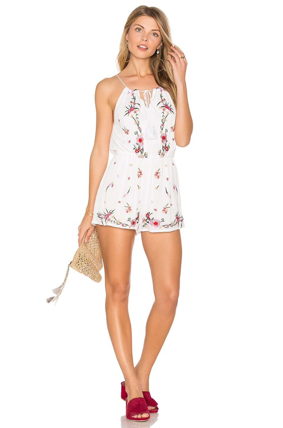 Raga Flora Romper in White