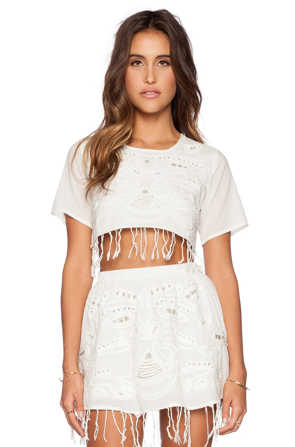 Raga Nomad Crop Top in Eggshell