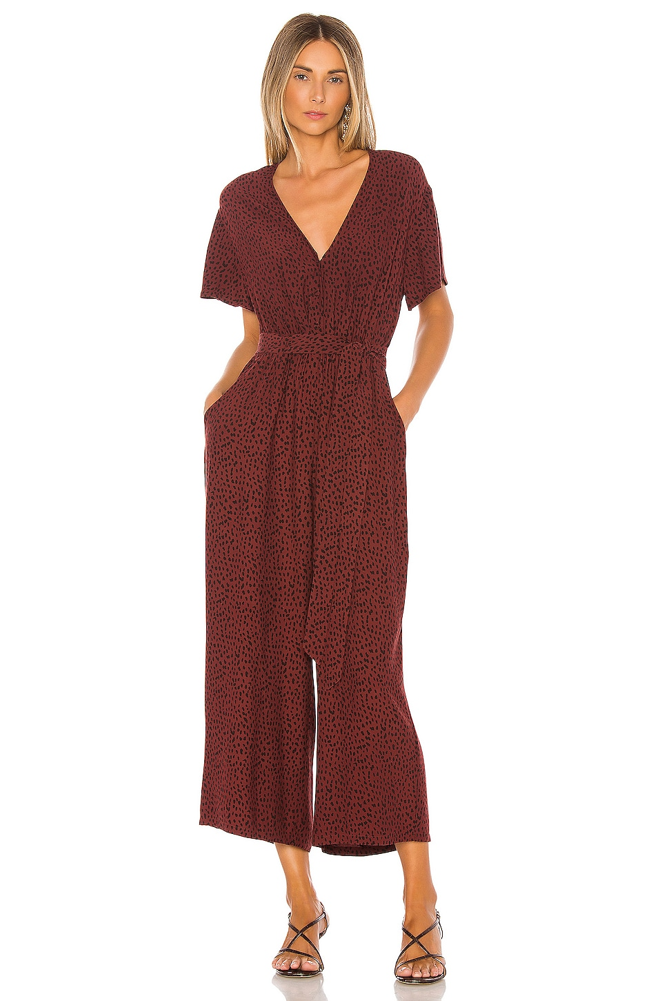 Rails Jet Jumpsuit in Rust Spotted