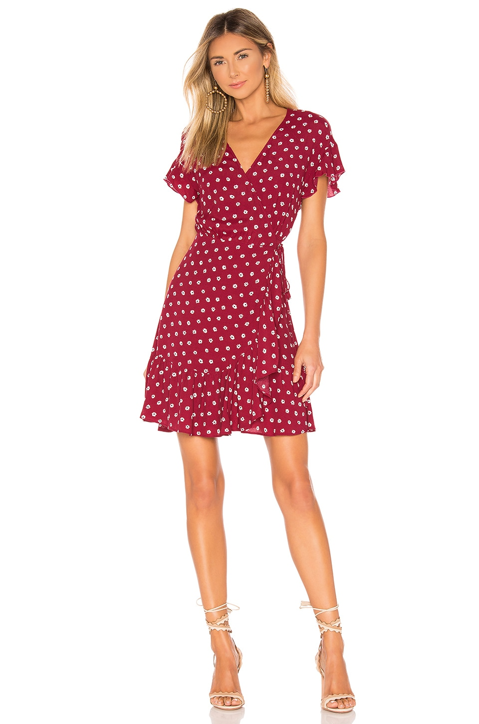 Rails Dresses RAILS KOREEN WRAP DRESS IN RED.