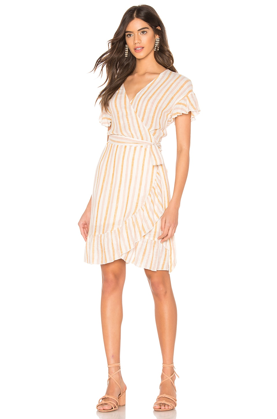 Rails Brigitte Dress in Amber Stripe