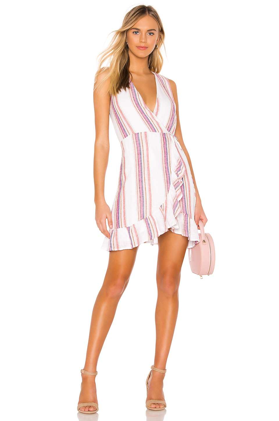 Rails Madison Wrap Dress in Jewel Stripe