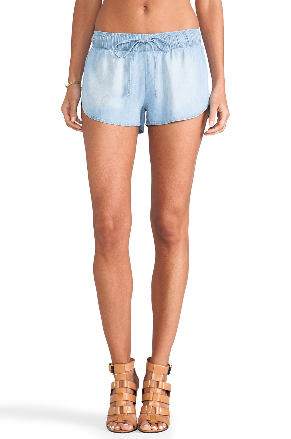 Rails Dani Denim Track Shorts in Vintage Wash