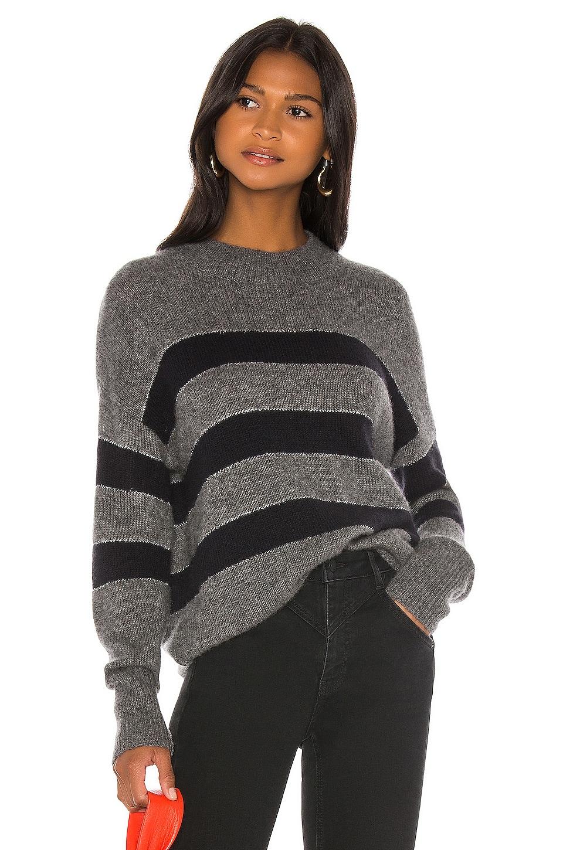 Rails Ellise Cashmere Blend Sweater in Charcoal Midnight Stripe