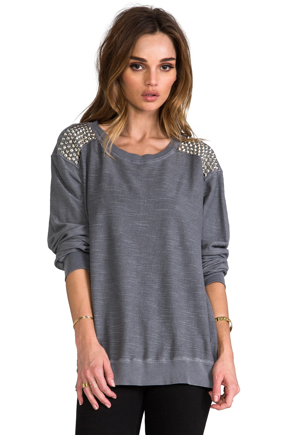 Rails Mika Studded Sweatshirt in Grey