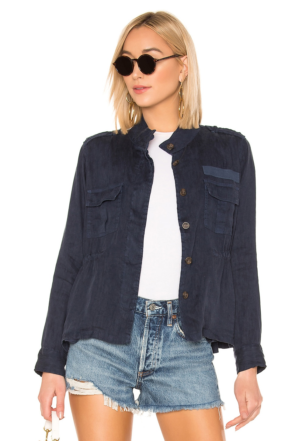 Rails Sahara Army Jacket in Indigo