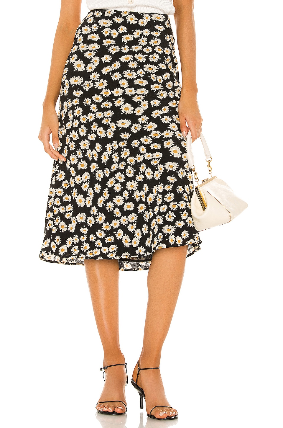 Rails London Skirt in Black Daisies