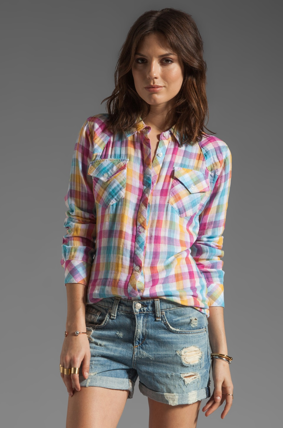 Rails Kendra Button Down in Rainbow