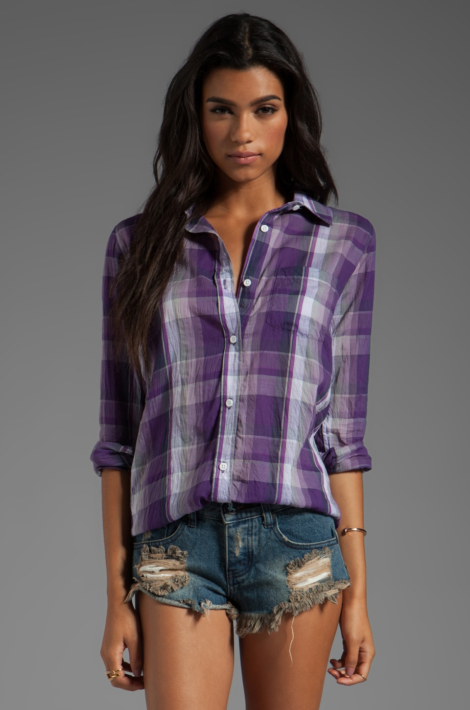 Rails Devyn Button Down in Purple
