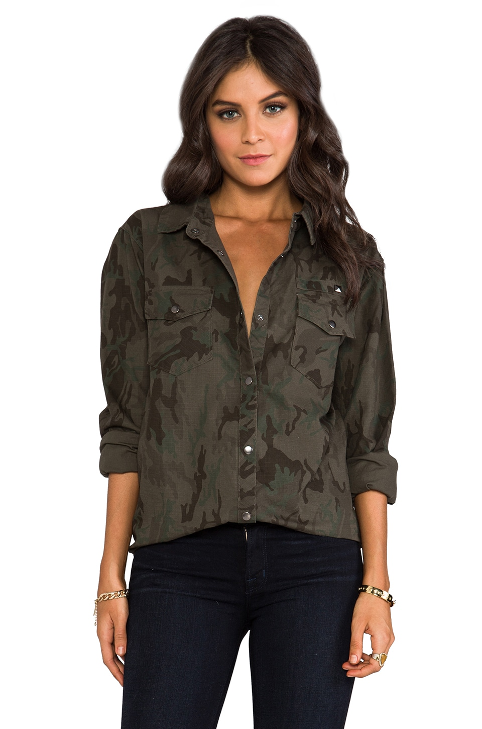 Rails Erin Camo Shirt Jacket in Camo