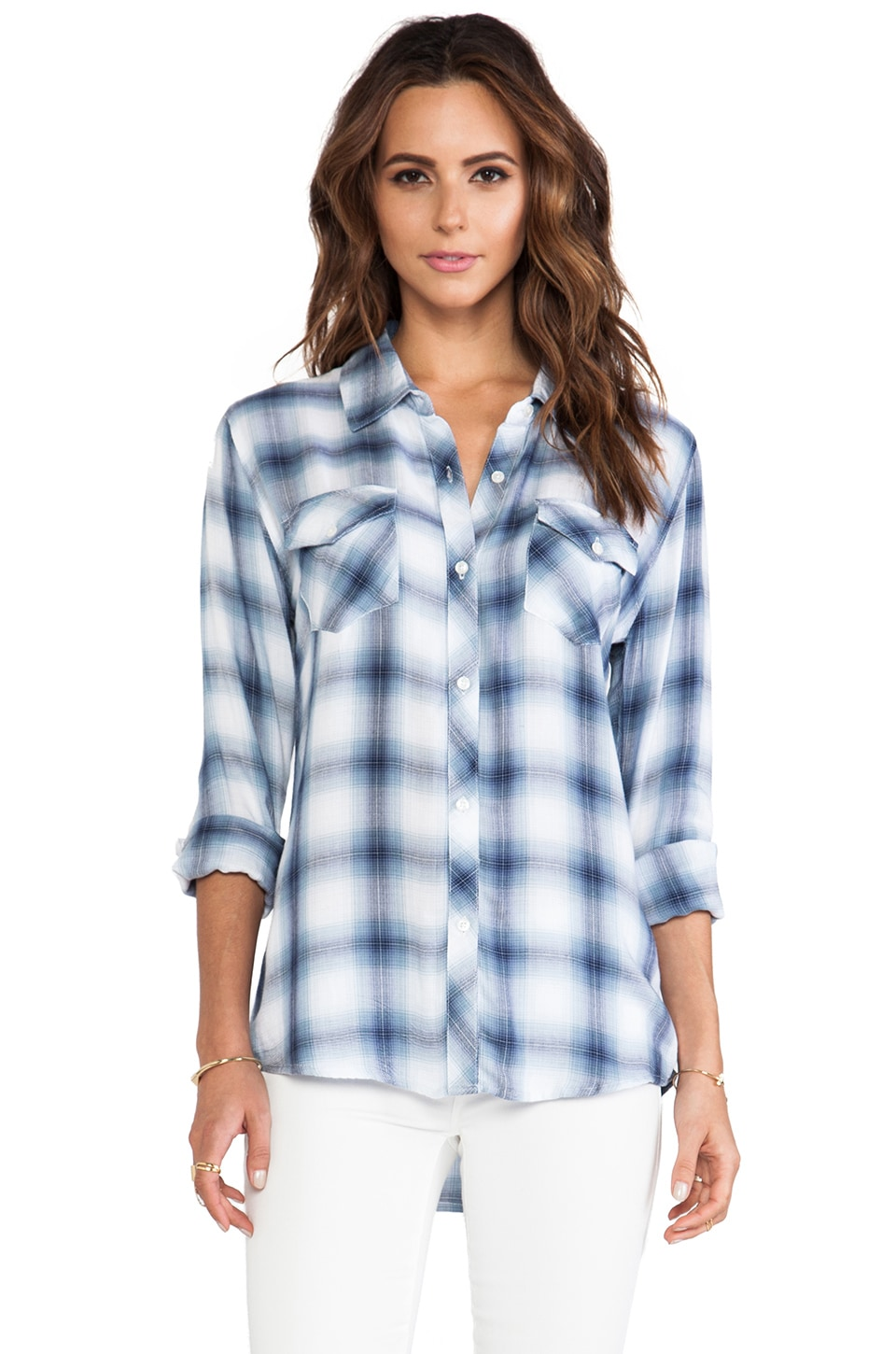 Rails Carmen Button Down in Sky Blue
